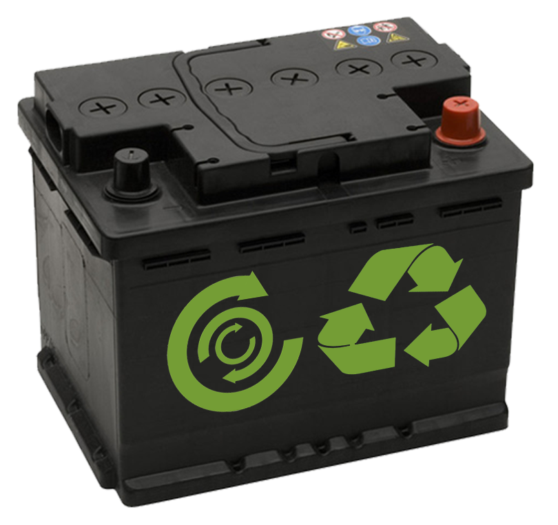 Old Car Battery 968 22007460 Recycle